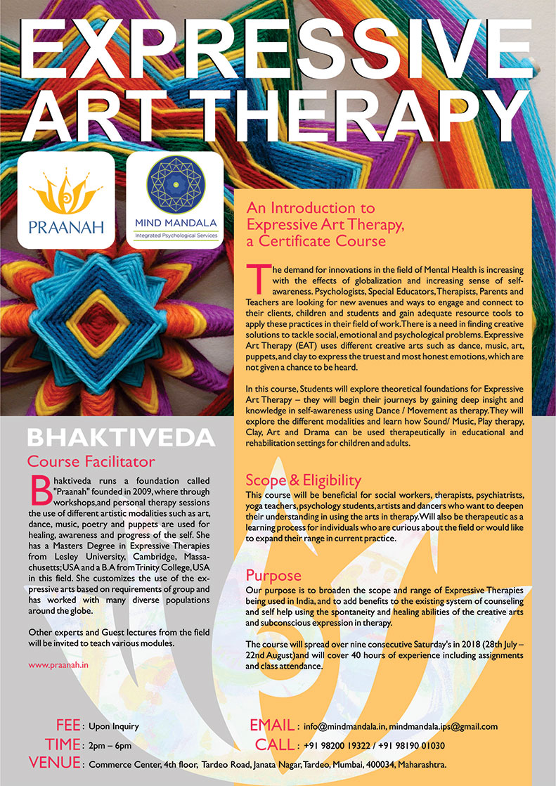Expressive Therapies For All Workshops Using Dance Drama Music